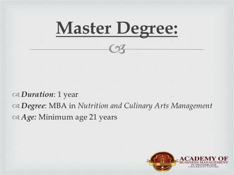 Mba In Culinary Arts culinary arts at abms open