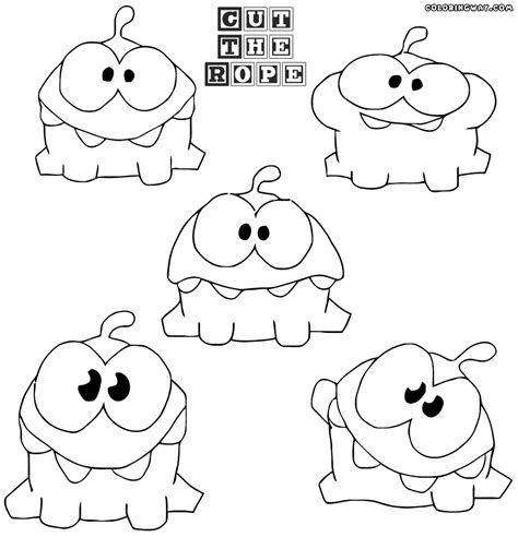 om nom s free coloring pages