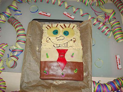 schwammkopf kuchen rezept backofen spongebob torte rezept