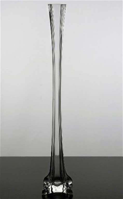 Rent Eiffel Tower Vases by Clear Glass Eiffel Tower 20 Inch Vase Glass Vase