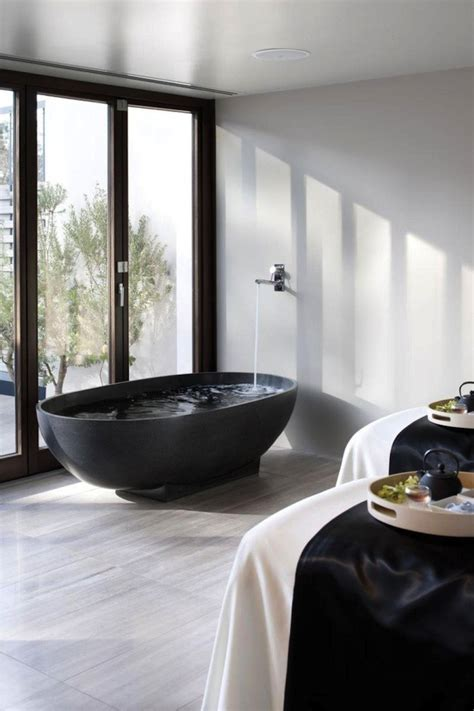 black bathrooms black bath tubs an elegant statement the design library