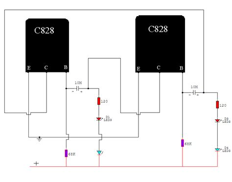 c828 transistor learn basic electronics circuit diagram repair mini project