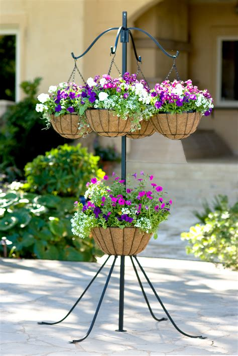 arm plant hanger  center basket gardeners
