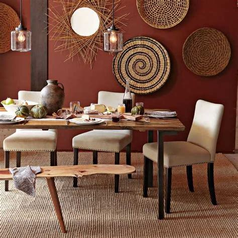 modern wall decoration  ethnic wicker plates bowls