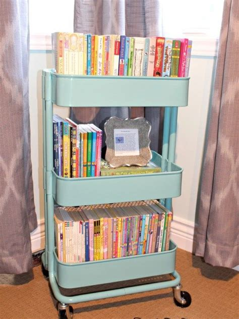 bedroom book storage storage ideas the best little cart ever raskog cart