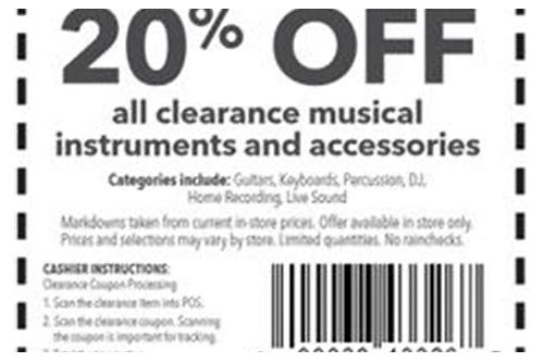 guitar center 15 percent off coupon