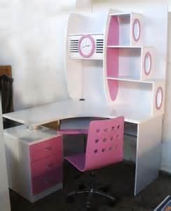 pink desk white pink corner computer desk