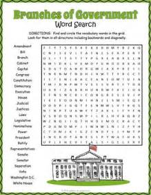 Free Gov Search Branches Of Government Word Search Puzzle Word Search Puzzles Early Finishers And