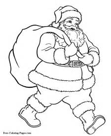 christmas santa coloring pages