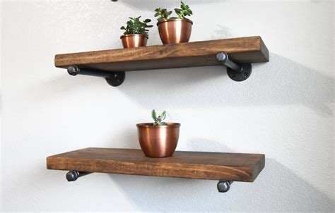 farmhouse industrial 10 floating wall shelf with