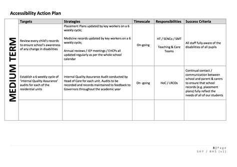 disability action plan template images templates design