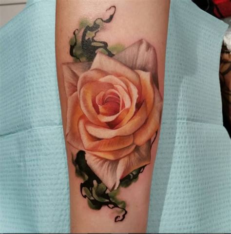 image gallery orange rose tattoo designs