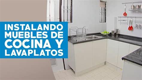 como instalar muebles de cocina  lavaplatos youtube