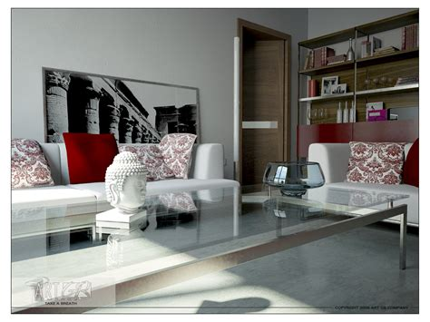 Trendy Living Room | 28 red and white living rooms