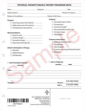 physical therapy progress note template svpod 180 physical therapy weekly patient progress note