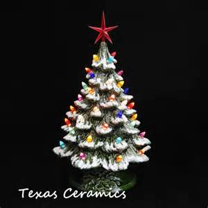 escape to yesterday ceramic tabletop christmas tree with