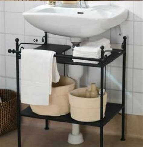 Bathroom Sink Storage Ideas Pedestal Sink Storage