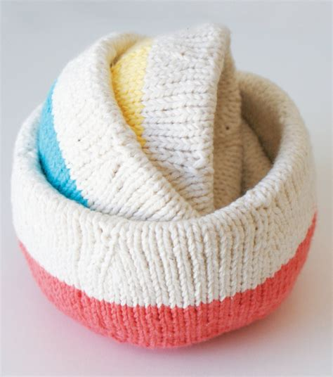 knitted yarn bowl pattern table decor knitting patterns in the loop knitting