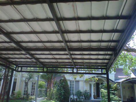 Gambar Dan Sho Metal canopy carport kanopi bina karya foto gambar canopy genteng metal dan rangka besi hollow atau