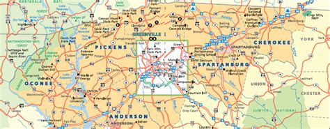 greenville sc map map of greenville sc my
