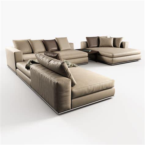 hamilton sofas modular sofas hamilton minotti 3d model