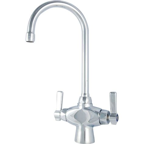 Commercial Kitchen Faucet For Home Chicago Faucets Commercial 2 Handle Bar Faucet In Chrome 50 Abcp The Home Depot