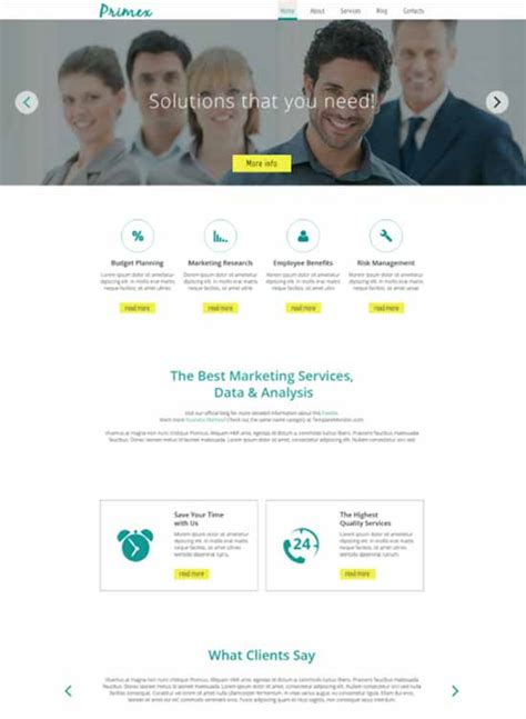 free responsive website templates for advertising agency 250 free responsive html5 css3 website templates