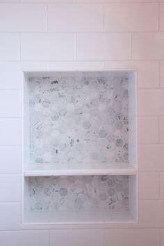 recessed shower shelving shelves ledge niche hex tile