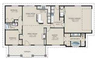 4 bedroom house blueprints ranch style house plan 3 beds 2 baths 1493 sq ft plan 427 4