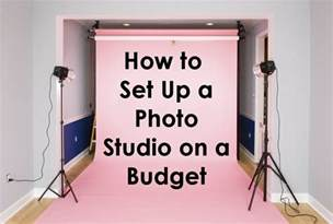 how to set up a how to set up a photo studio on a budget backdrop