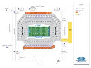 Ford Field Seat Map Detroit Lions Stadium Diagrams