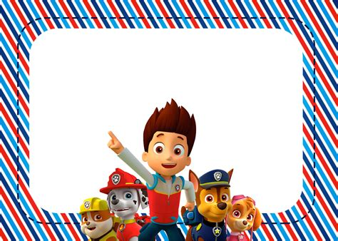 paw patrol birthday card template free paw patrol free printable invitations oh my in