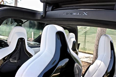 tesla roadster discontinued tesla discontinues glossy model x seat backs for matte finish