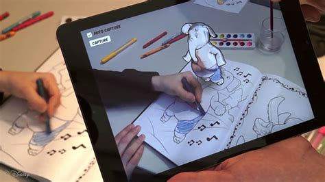augmented reality research paper disney is working on 3d coloring books
