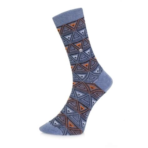 triangle pattern socks burlington stockist fashion blue triangle socks