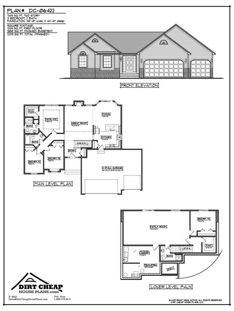 Rambler Home Plans by Dirtcheaphouseplans Com Entire Plans For Cents On The