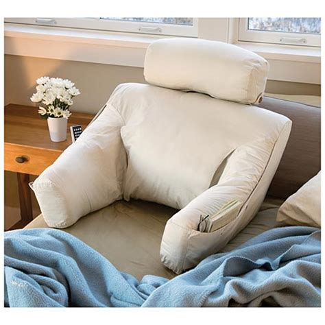 bed reading pillow with arms bed lounge back support pillow for reading and tv the