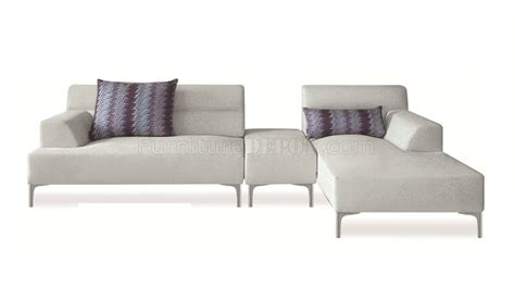 white fabric sofa manhattan 421009 sectional sofa in white fabric by new spec