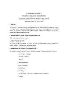 mba project format