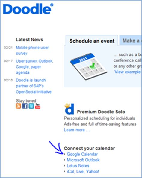 doodle calendar connect doodle calendar integration technology for academics