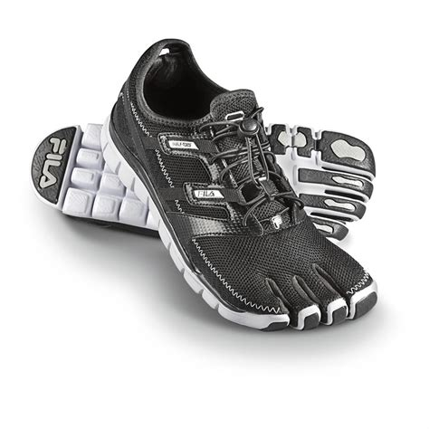 athletic shoes with toes s fila 174 skele toes 174 black 582730 running shoes