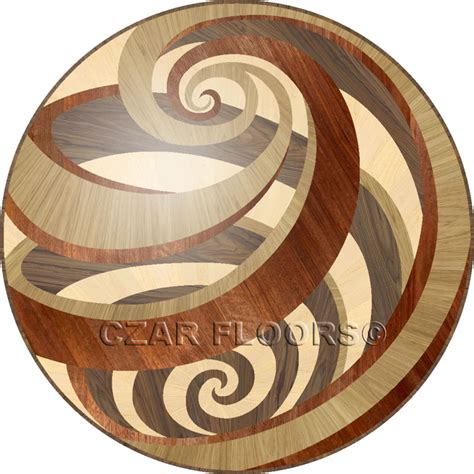 Flur Dekorativ Gestalten by Wood Medallions Model Vortex Custom Wood