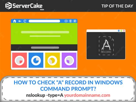 How To Check Record How To Check Quot A Quot Record In Windows Command Prompt Servercake
