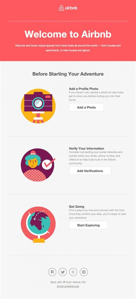 Airbnb Welcome Email Html Email Gallery Welcome Email Template Html Free