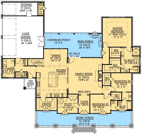 acadian floor plans plan 56364sm 3 bedroom acadian home plan bonus rooms