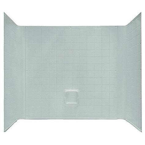 one piece bathtub wall surround 54 quot x 27 quot 1 piece tub wall surround abs