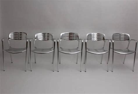 Pensi Set set of 5 aluminium chairs toledo by jorge pensi spain 1986 1988 for sale at 1stdibs