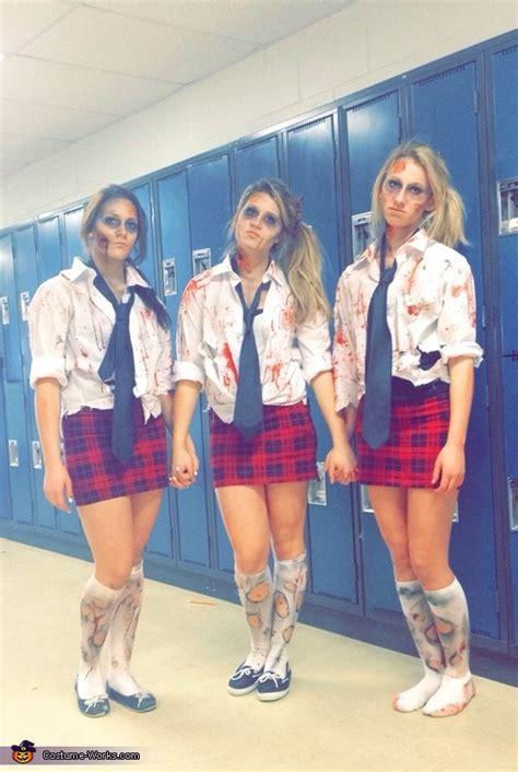 zombie school girls costume diy costumes