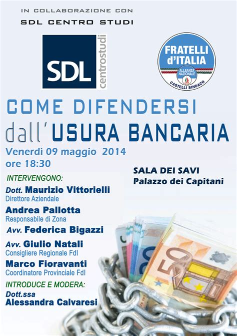 d italia usura fratelli d italia convegno sull usura bancaria prima