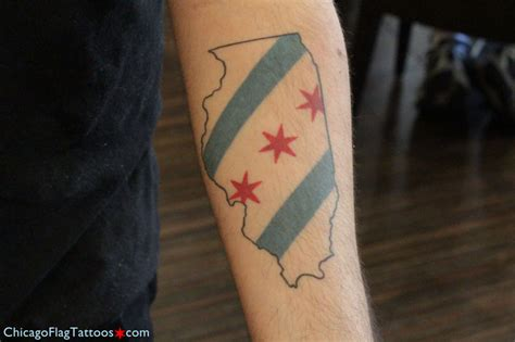 hasani chicago flag tattoos